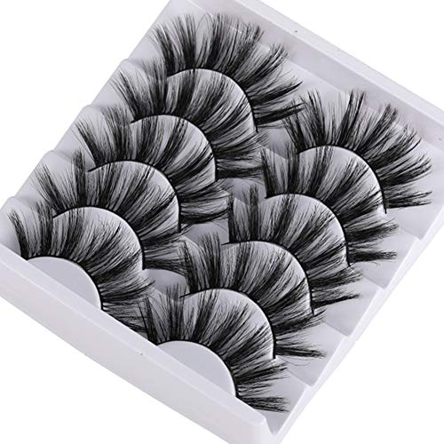 3D 5 Paare Falsche Wimpern, Mink Soft And Thick False Eyelashes, 3D Long Thick Curly Dramatic Natural of False Eyelash,5 Pairs