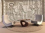 Papel tapiz personalizado pintura de pared jeroglífico templo egipcio vinilo etiqueta de la pared del cartel decoración para el hogar, 350x245cm
