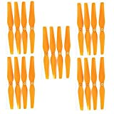 Fytoo Airplane Accessories 20pcs Propellers for Syma X8 X8C X8W X8G RC Quadrocopter Drone Propeller Fan Blade Main Blade X8C-05-06 Spare Parts Orange