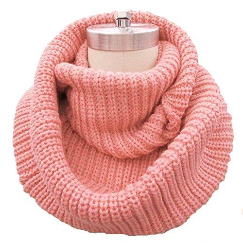 Fletion Femmes Hommes tricotage Echarpes en laine Chaude hiver épais tricoté écharpe Snood châle Circle Loop
