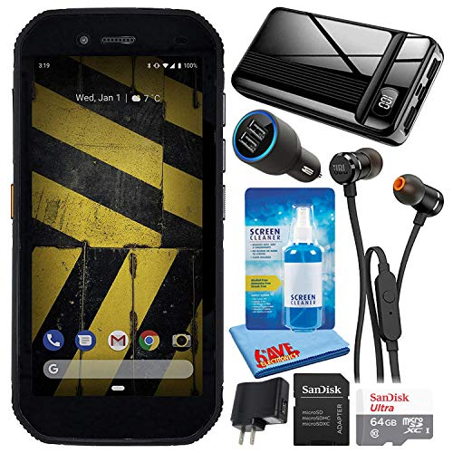 Caterpillar CAT S42 Black 5.5  32GB + 3GB RAM 4G LTE Dual-SIM IP68 Rugged Smartphone (GSM Only, No CDMA) Bundle with 64GB Ultra microSD Card + 20,000mAh Power Bank + in-Ear Earbuds + Car Charger