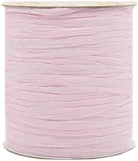 273 Yards Natural Pink Cotton Raffia Yarn Crochet Summer Sun Hat Yarn,Beach Bag Yarn,Crochet Raffia Yarn,Straw Yarn,Crochet Knit Yarn