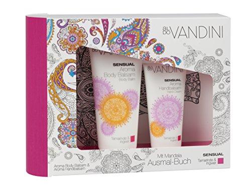 aldoVANDINI SENSUAL Geschenkset mit Body Lotion Handcreme und Mandala Malbuch, für Frauen, vegan - 1 er Pack (1 x 1 Set)