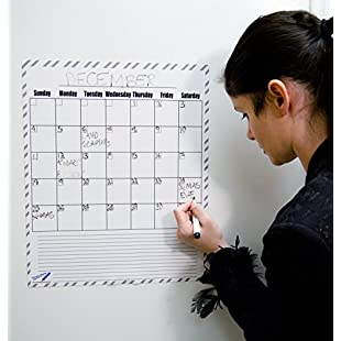 "Customer reviews Dry Erase Calendar Magnets Monthly Magnetic Boards Large - 14""x17"" B&W Kitchen Magnetic Boards"