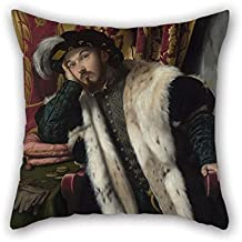 beeyoo Cushion Cases of Oil Painting Moretto Da Brescia - Portrait of Count Fortunato Martinengo Cesaresco for Couples Living Room Bf Indoor Bench Relatives 18 X 18 Inches / 45 by 45 cm(Two Sides)