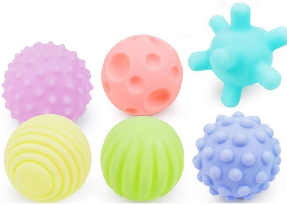 Akozon Sensory Balls TPU OFFer 6Pcs Soft San Francisco Mall Textured H Multi-Touch Senses