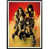 daerduotutu Heavy Metal Kiss Rock Band Carteles de Papel Kraft Lienzo Pintura Equipo de música Estrella clásico Decorativo B88 50 × 70 CM sin Marco