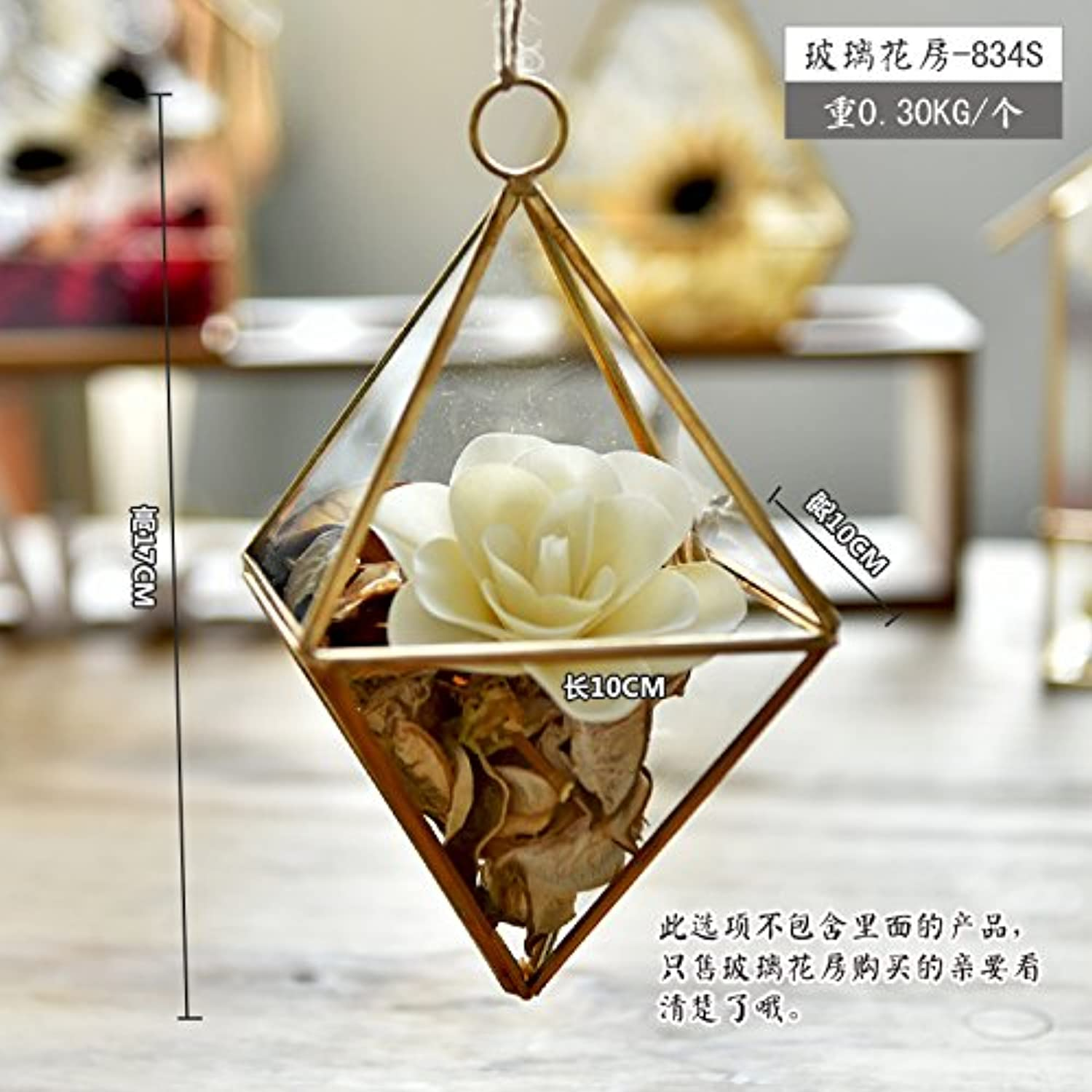MENG The Eternal Flower Glass Greenhouse Decoration Micro Landscape Creative Jewelry Gift Gift Home Furnishing Fleshy Girl P