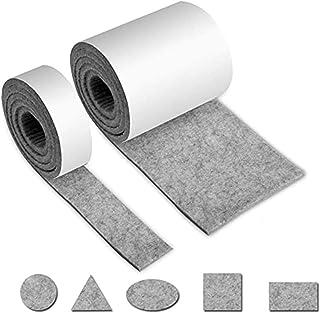 VOARGE podkładki filcowe samoprzylepne, 2 rolki taśmy filcowej (100 x 10 cm + 100 x 2 cm), można dowolnie przyciąć do każd...