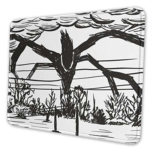 Stranger Monster Things Mouse Pad Gaming Mouse Pad Non-Slip Neoprene Base with Stitched Edge Computer Pc Mousepad for Home Office