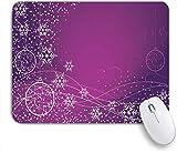 Alfombrilla de ratón decorativa para juegos,Delicada Chuchería Estrella Púrpura Brillo Floral Elegan...