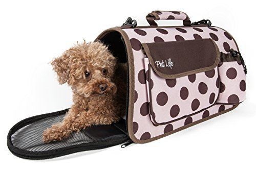 PET LIFE Folding Zippered Casual Airline Approved Fashion Travel Pet...