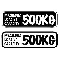 ご希望の重量表記で作成します 最大積載量 ステッカー 手書き風 英語 英字 デカール バン 軽トラ 貨物 トラック かわいい おしゃれ (黒)