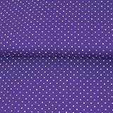 Viskosestoff Tupfen lila Punkte Polka Dots Modestoffe