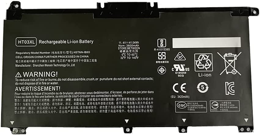 Civhomy Replacement Laptop Battery Compatible HP Jacksonville Popularity Mall HT0 with HT03XL