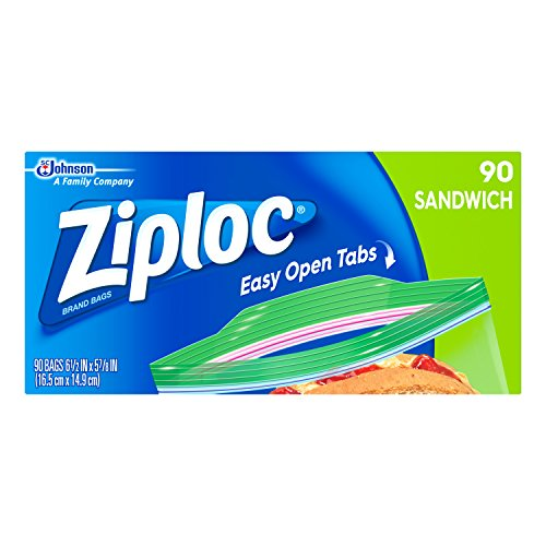 Why Choose Ziploc Sandwich Bags, Easy Open Tabs, 90 Count, Clear