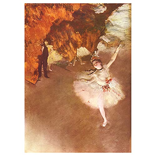 Legendarte - Cuadro Lienzo, Impresión Digital - La Estrella - Edgar Degas - Decoración Pared cm. 60x85