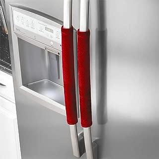 YOTHG Refrigerator Dust Door Handle Covers,Door Handle Covers,Antiskid Protector Gloves for Fridge Microwave Dishwasher Door Cloth Protector(Red)