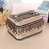 YXSJLT Tissue Boxes Multipack Golden Lace Bread Type Cloth Tissue Box Roll Paper Pumping
