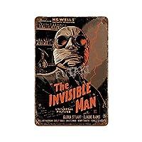 不可侵の男 さびた錫のサインヴィンテージアルミニウムプラークアートポスター装飾面白い鉄の絵の個性安全標識警告アニメゲームフィルムバースクールカフェ40cm*30