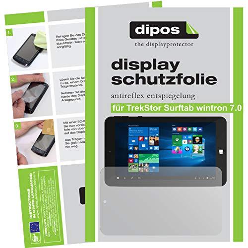 dipos I 2X Schutzfolie matt kompatibel mit TrekStor Surftab wintron 7.0 Folie Bildschirmschutzfolie
