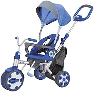 Little Tikes Fold 'n Go 4-in-1 Trike, Blue/Grey