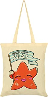 Save Our Seas Tote Bag Cream 38 x 42cm