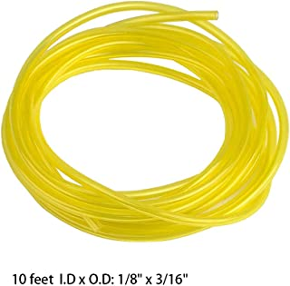 10 Feets (3 Meters) Fuel Line Hose Tubing for Poulan Craftman Chainsaw String Trimmer Pressure Washers Weed Whackers 2 Cycle Fuel Gas Line Pipe Hose Tube (I.D 1/8