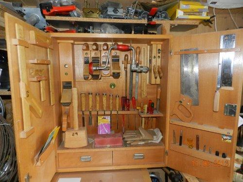 Ulmia-Set 310Werkzeug für Tischler und ebanistas FLACHEN Sohle guayacán im Schrank-Modell Werkzeuge 42