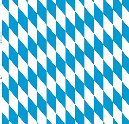 KEVKUS Wachstuch Tischdecke Meterware bayerische Raute Oktoberfest P8074-1 Größe wählbar in eckig rund oval (Schnittkante (ohne Einfassung), 130 cm rund)