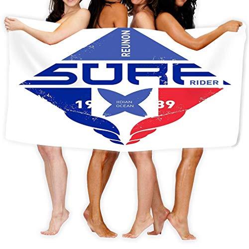 Beach Towels Bath Towels Microfiber Fast Drying Bath Towels Swimming Camping Towel Adults SPA Bath Towel 31' X 51' Extreme Sport Design Surf Print Surfing Lab Label