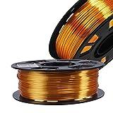 Silk Metallic Gold PLA 1.75mm 3D Printer Filament, 1kg Spool (2.2lbs) 3D Printing Material, for FDM Printer