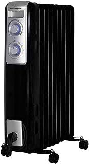 Orbegozo RN 2000 - Radiador de aceite, 9 elementos, 2000 W, luz LED, termostato regulable, recogecables, ruedas pivotantes