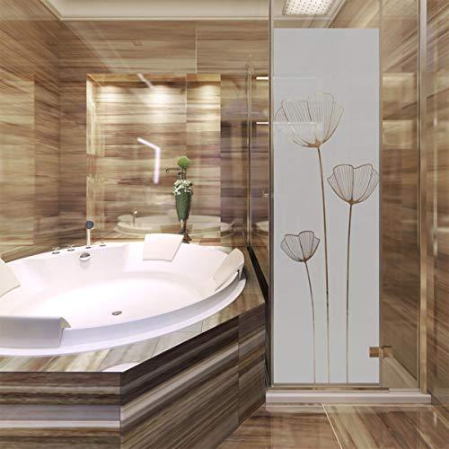 Adhesivo para puerta de ducha con diseño de flores de amapota –...