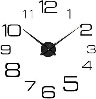 DIY Relojes de Pared Reloj de Pared de Espejo Acrílico Relojes de Pared Vintage sin Ruidos de Garrapatas Sala de Estar Dormitorio Decoración del Hogar