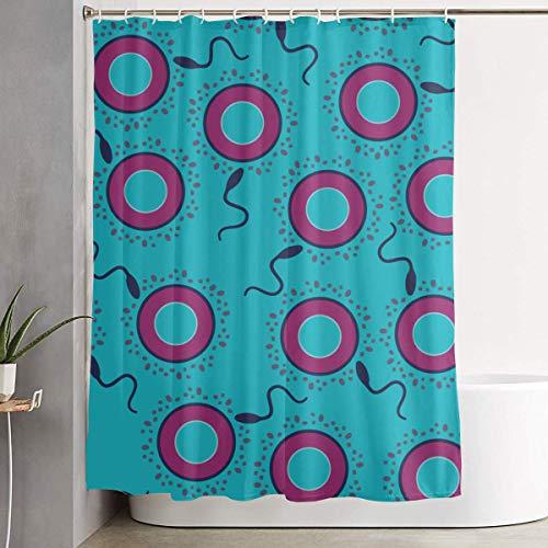 N/A - Cortina de Ducha Impermeable y Duradera para decoración de baño con Ganchos, 72 Pulgadas de Ancho x 72 Pulgadas de Alto, condón de Huevo permado