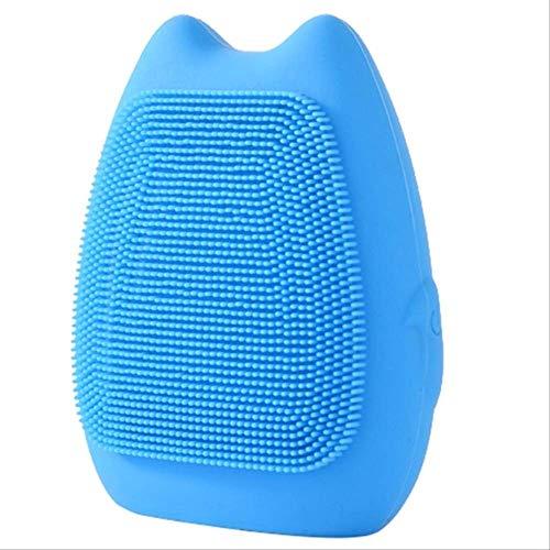 HYNL face washer Cepillo de limpieza facial eléctrico Cepillo vibrador de silicona a prueba de agua Vibrador para el acné Limpiador facial eléctrico Herramienta de bellezaAzul
