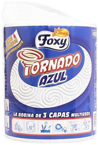 Foxy 1460155 - Tornado Azul - La bobina de 3 capas multiusos, Decorado - 1 rollo