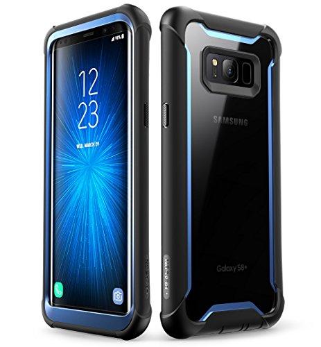 i-Blason Samsung Galaxy S8 Hülle, [Ares] Handyhülle Ganzkörper Schutzhülle Robustes Schale Case Klar Cover mit Gürtelclip ohne eingebautem Displayschutz für Galaxy S8, Schwarz/Blau