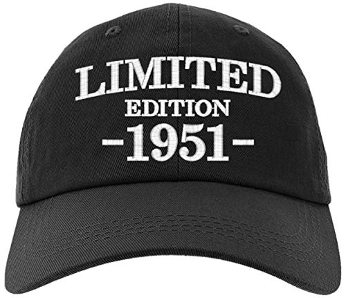Cap 1951-70th Birthday Gifts, Limited Edition 1951 All Original Parts Baseball Hat 1951-EM-0002-Black