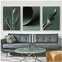 壁の芸術、プリントネイチャーグリーン植物ポスター北欧のキャンバスの絵画リビングルームのためのモダンなミニマリストの新鮮な家の装飾フレームなし