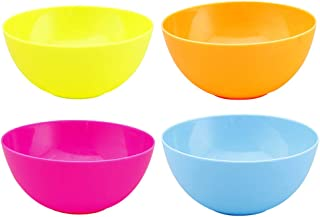 Mixed Colors UPKOCH 4Pcs Wheat Straw Plate Fruit Snack Containers for Adult and Toddler Baby Kids Home Restaurant