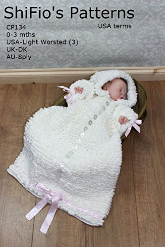 Crochet Pattern - CP134 - Baby Sleeping Bag - 0-3mths - USA terminology (English Edition)