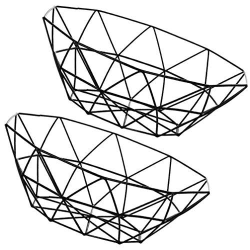 DOITOOL 2Pcs Eisen Obstschale Obstschale Korb Metalldraht Gemüse Schüssel Mesh Arbeitsplatte Obsthalter Schüssel für Küchentheke Modern