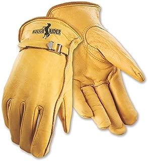 Galeton 25101PR-M 25101PR Rough Rider Premium Leather, Strap & Buckle Driver Gloves, Medium, Gold
