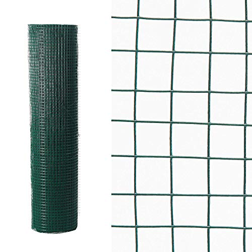 Superworth Length 6 M Width 24' PVC Coated Wire Mesh Fencing Chicken Rabbit Fence Garden Barrier Netting No Rust Green