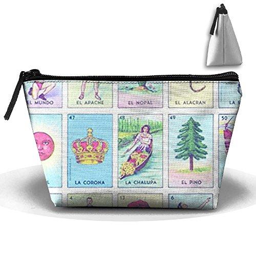 CHC40 Loteria カラフルクリスマスギフトコスメバッグ ポータブル旅行メイクアップケースポーチ 洗面用具洗浄オーガナイザー