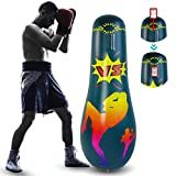 Rehomy Inflatable Punching Bag for Adult, 63inch Free Standing Boxing Target Bag, Fitness Punch Tower Speed Bag for Exercise & Stress Relief (63inch)