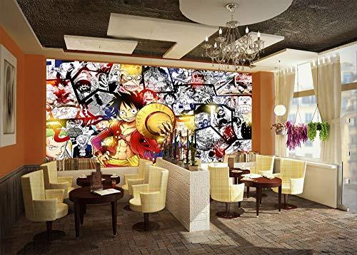 WYH-YW Fototapeten 3D Anime Wand Tapete One Piece Wohnzimmer Schlafzimmer Büro Flur Dekoration Wandbilder Moderne Wanddeko Wallpaper 250cmx175cm(W×H)