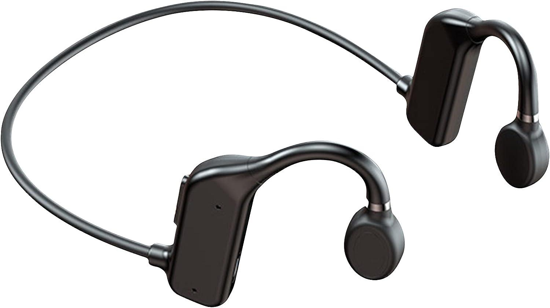 OCUhome Bone Conduction Headphones, Open Ear Bluetooth 5.2 Headphones, Ear Hook Bone Conduction Earphone IPX5 Waterproof Wireless Headphone for Sports Black